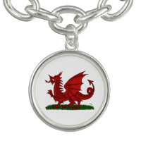Red Dragon of Wales Bracelets