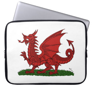 Red Dragon of Wales Computer Sleeve