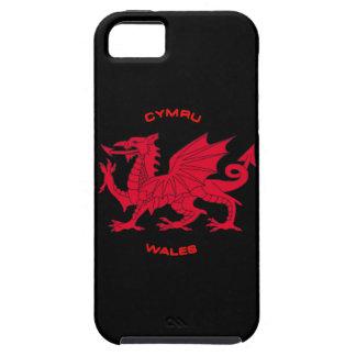 Red Dragon of Wales (Cymru), Black Back iPhone SE/5/5s Case