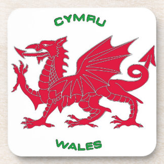 Red Dragon of Wales (Cymru), White Back Coaster