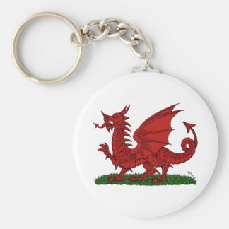 Red Dragon of Wales Keychain