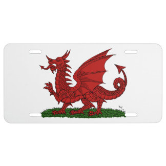 Red Dragon of Wales License Plate