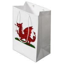 Red Dragon of Wales Medium Gift Bag