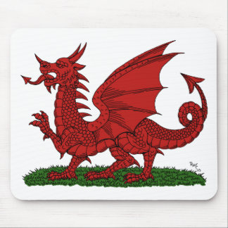 Red Dragon of Wales Mousepad
