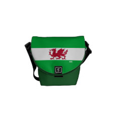 Red Dragon Of Wales On Mini Messenger Bag at Zazzle