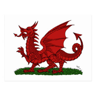 Red Dragon of Wales Postcard
