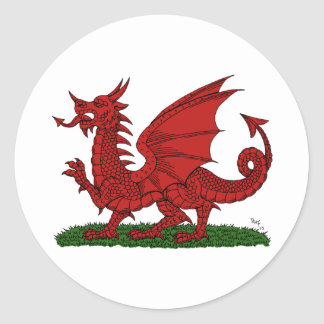 Red Dragon of Wales Sticker