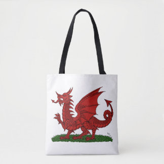 Red Dragon of Wales Tote Bag