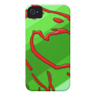 red dragon on green stripes iPhone 4 cover