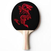 Red Dragon Ping Pong Paddle