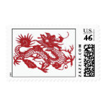 Red Dragon postage stamp