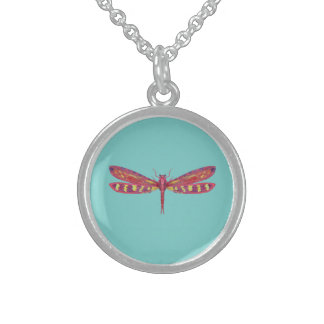 Red Dragon Round Pendant Necklace