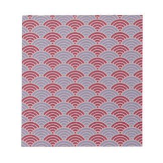 Red Dragon Scale Vintage Kimono Pattern Note Pads