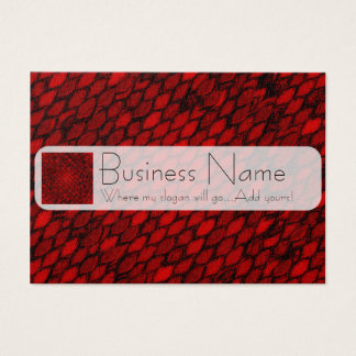 Red Dragon Scales Business Card