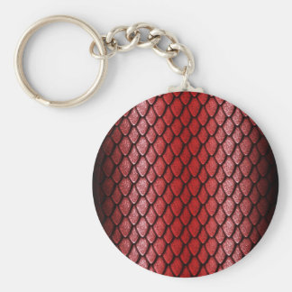 Red Dragon Scales Key Chain