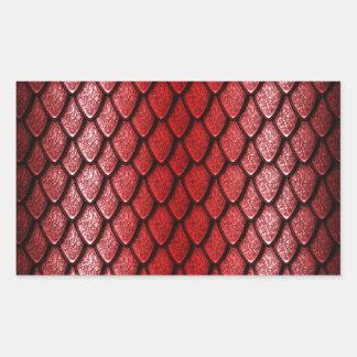 Red Dragon Scales Rectangular Sticker