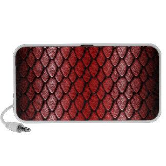 Red Dragon Scales Mini Speakers