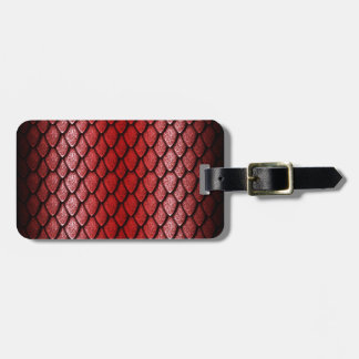 Red Dragon Scales Tag For Luggage