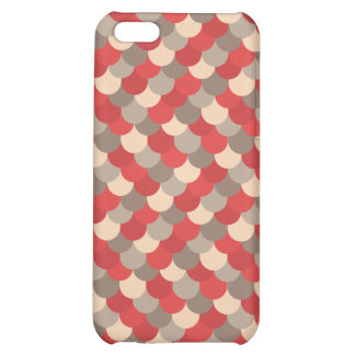 Red Dragon Scales Vector Art Cover For iPhone 5C