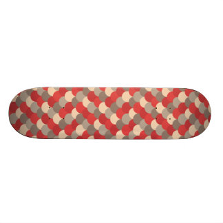 Red Dragon Scales Vector Art Skate Board Deck