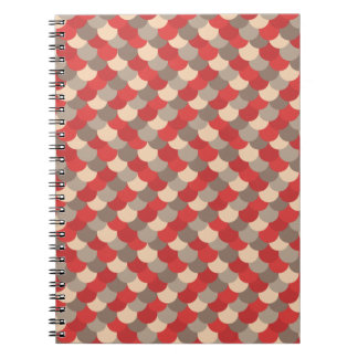 Red Dragon Scales Vector Art Spiral Notebooks