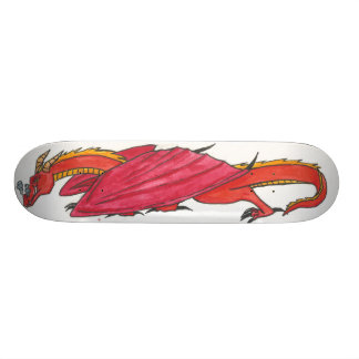 Red Dragon Skateboard Deck