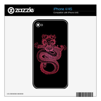 Red Dragon Skins For iPhone 4