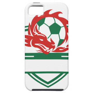 Red Dragon Soccer Ball Crest iPhone SE/5/5s Case