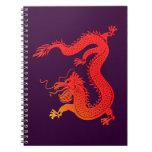 red dragon talk dragon spiral note books