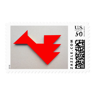 Red dragon Tangram Postage