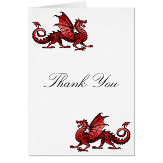 Red Dragon Thank You Card