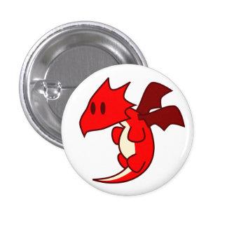 Red Dragon Token Pinback Button