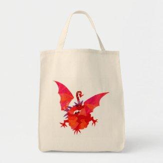 'Red Dragon' Tote Bag bag