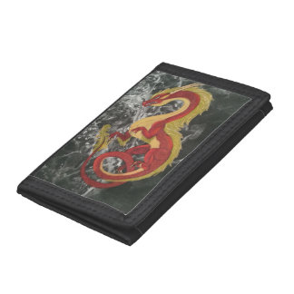 Red Dragon Trifold Wallets