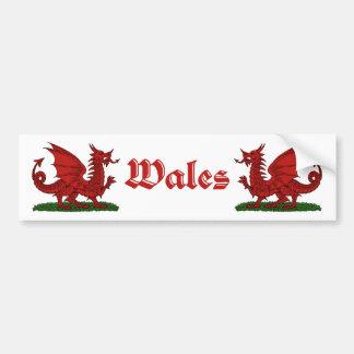 Red Dragon Wales Bumper Sticker