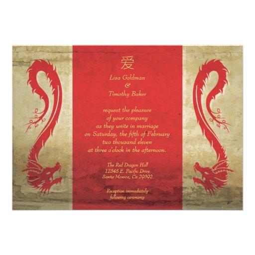 Red Dragon Wedding Invitations