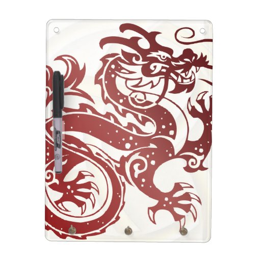 Red Dragon with Celtic Knot - 1 - Message Board Dry Erase Board