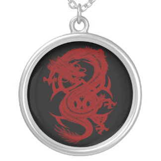 Red Dragon Xiuhcoatl Necklace