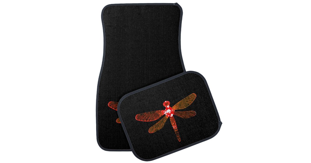 Red Dragonfly Car Mats