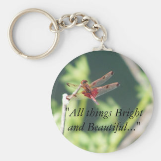 Red Dragonfly Key Chain