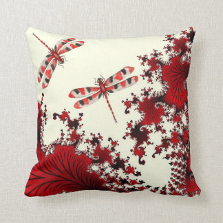 Red Dragonfly Pillow
