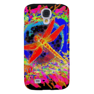 Red Dragonfly Splahing by Sharles Galaxy S4 Cases