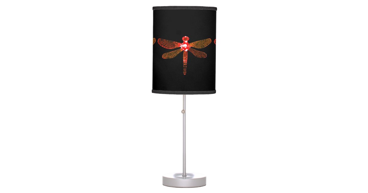 Red Dragonfly Table Lamp