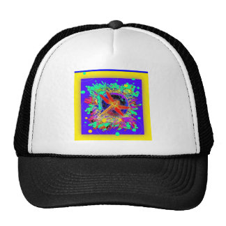 Red Dragonfly Yellow Purple Splash by Sharles Hat