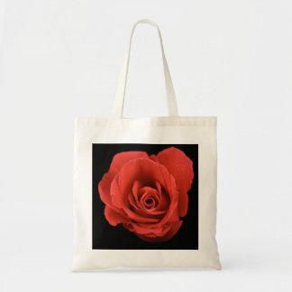 Red Drama Rose Tote Bag