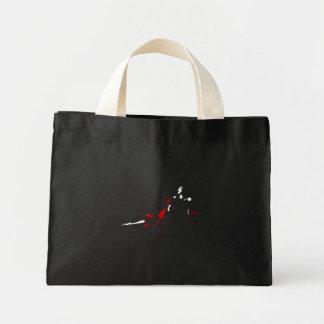 red dress mini tote bag