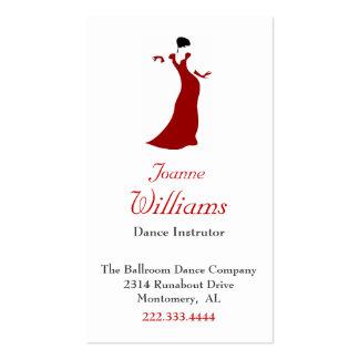 Red Dress Ballroom Dance Business Card