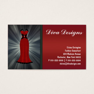 Red Dress Business Cards