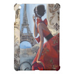 Red Dress, Eiffel Tower, Let's Go iPad Mini Covers