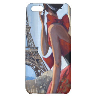 Red Dress, Eiffel Tower, Let's Go iPhone 5C Cover